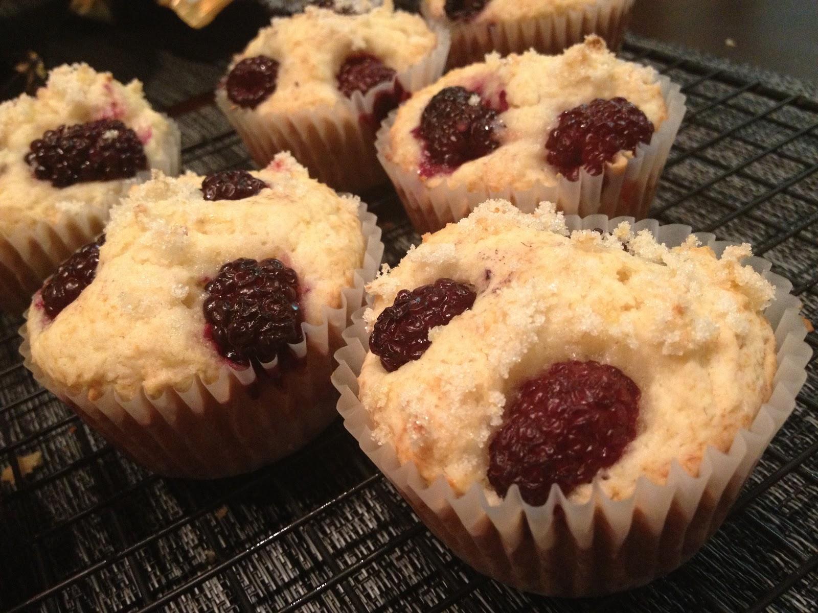 ... Mess Their Kitchen: Muffin Mondays: Lemon Ricotta Blackberry Muffins