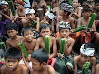 Greatest Cultur in The World - Pandan War Ceremony in Bali Indonesia