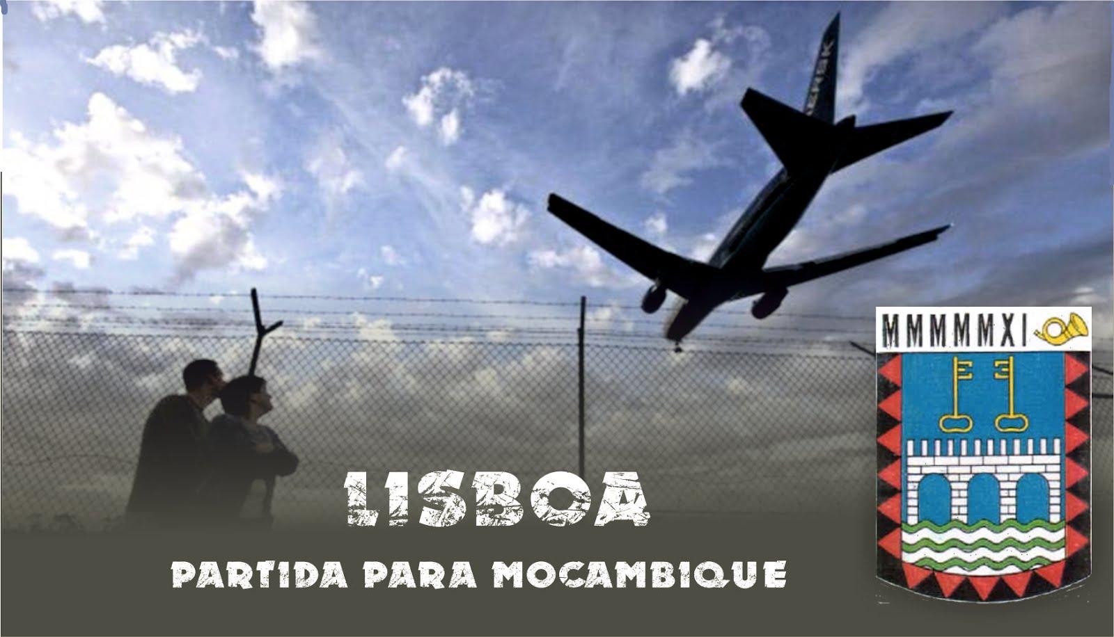 Lisboa - partida para Moçambique