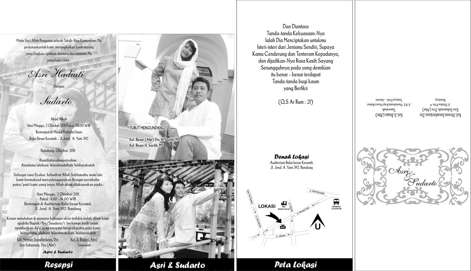Bandung Paris Van Java Love Cetak Kartu Undangan Desain Foto