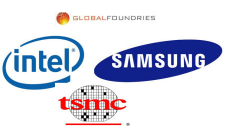 principales fabricantes de microchips Intel, Samsung, Global Foundries