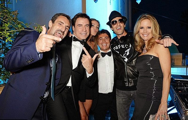 They looked enjoyed too while giving their cheers with John Travolta, Oscar Generale, Kelly Preston and Domenico Giannini.