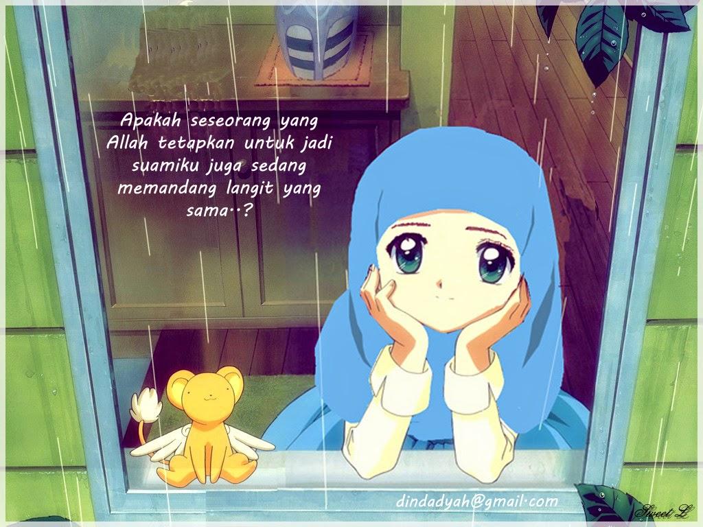 Gambar Kartun Wanita Muslimah Berdoa Medsos Kini