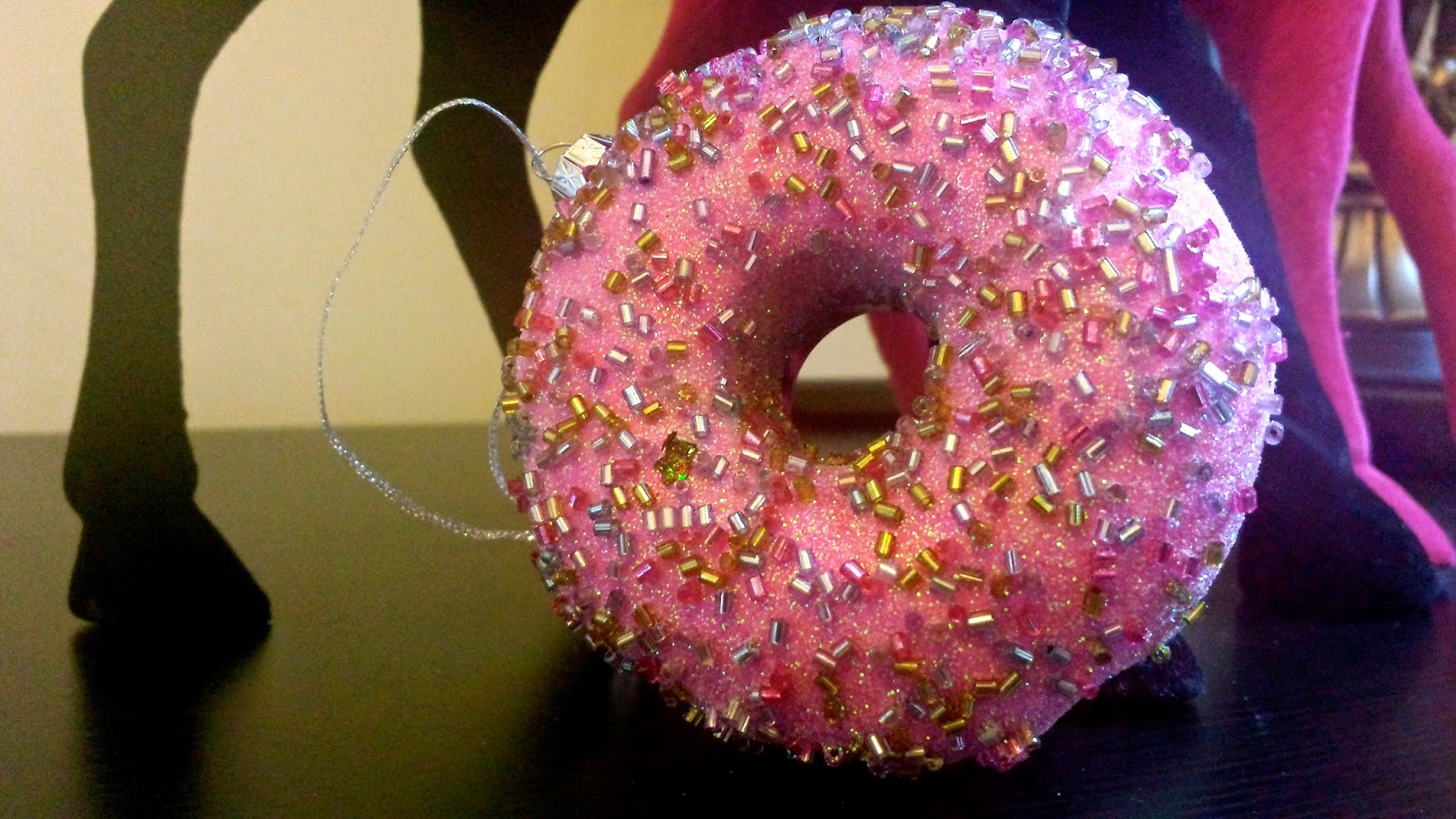 Sparkly Donut Christmas Decoration