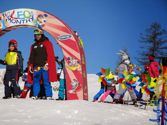 Prima Girandolata di Carnevale (fiaccolata per bambini) svoltasi a Cortina presso la scuola Happy Ski Cortina su idea di Girandoliamo