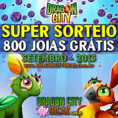 Super Sorteio de 800 Joias Grátis - Setembro 2015