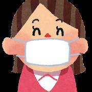 マスクをつけた女性のイラスト