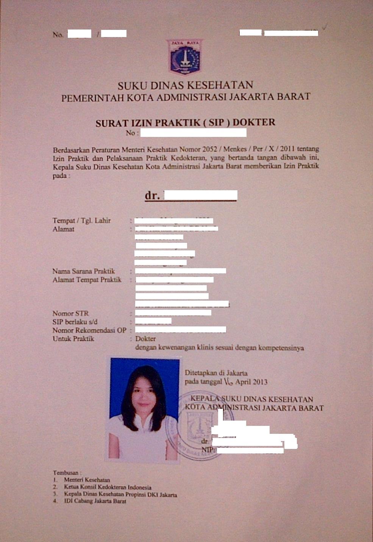 Pelayanan Terpadu Satu Pintu Jakarta Barat Sip Dokter Umum
