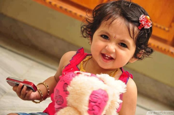 Cute indian girl baby photos for facebook profile picture