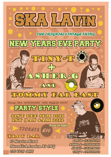 Ska LaVin NYE Party 2011 flyer