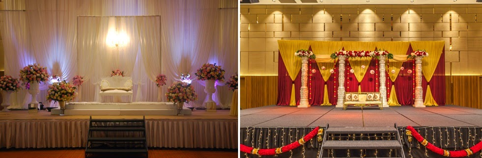pelamin white mandap yellow red