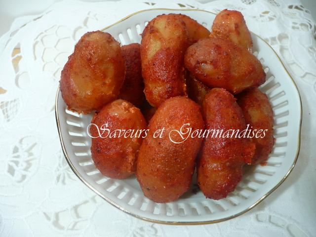 Pommes de Terre Grenailles  aux Saveurs Indiennes. Baked Tandoori Baby Potatoes.