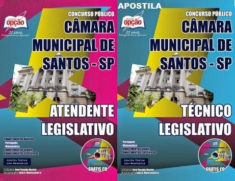 APOSTILA CAMARA MUNICIPAL SANTOS - CONCURSO PÚBLICO 01/2014
