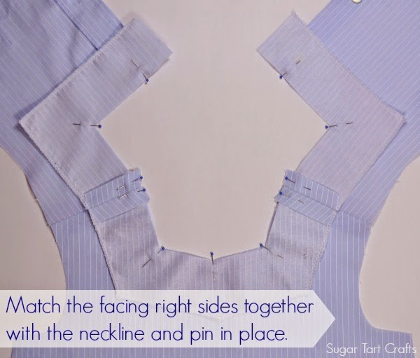 Attach the facing to the bodice.