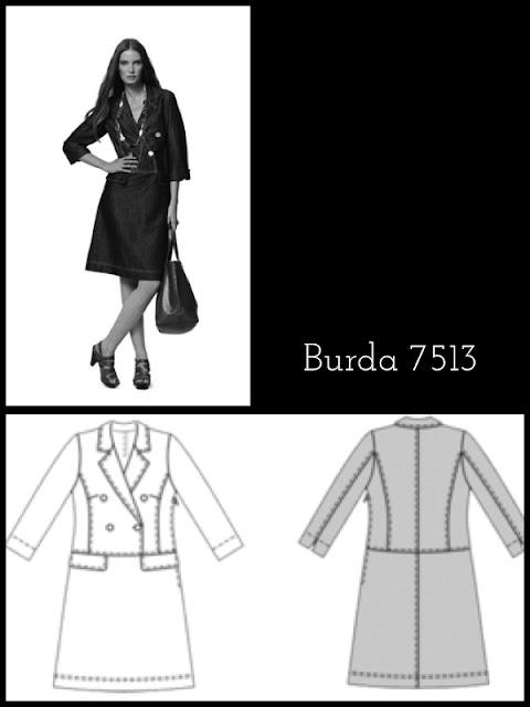Burda Schnittmsuter Pattern 7513