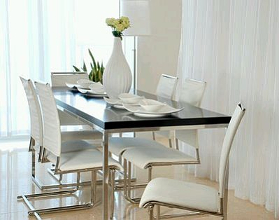 modern dining room furniture black and white color