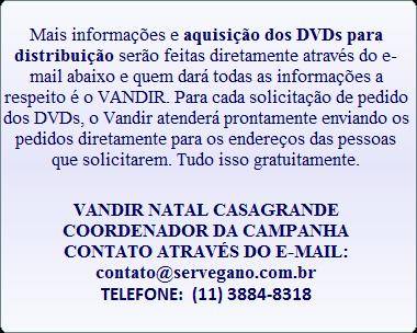 DVD GRATUITO EM FAVOR DOS ANIMAIS
