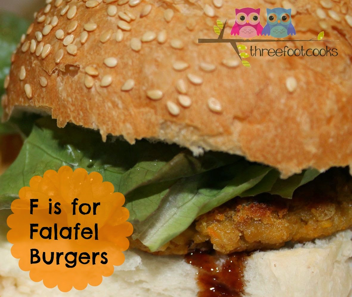 F is for Falafel Burgers