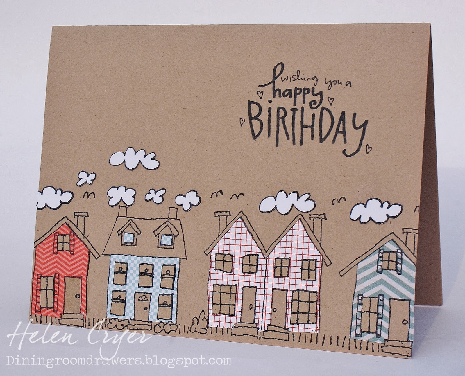 The Dining Room Drawers Stampin Up Birthday Card – Stampin Up Birthday Card