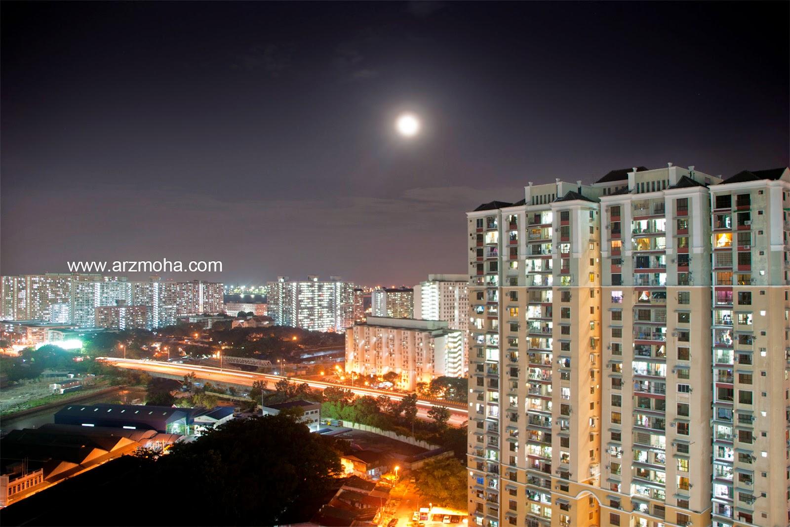 Gerhana bulan, Malaysia, permandangan dari jauh