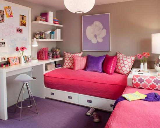 desain kamar tidur anka pink