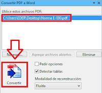 como convertir pdfs a word