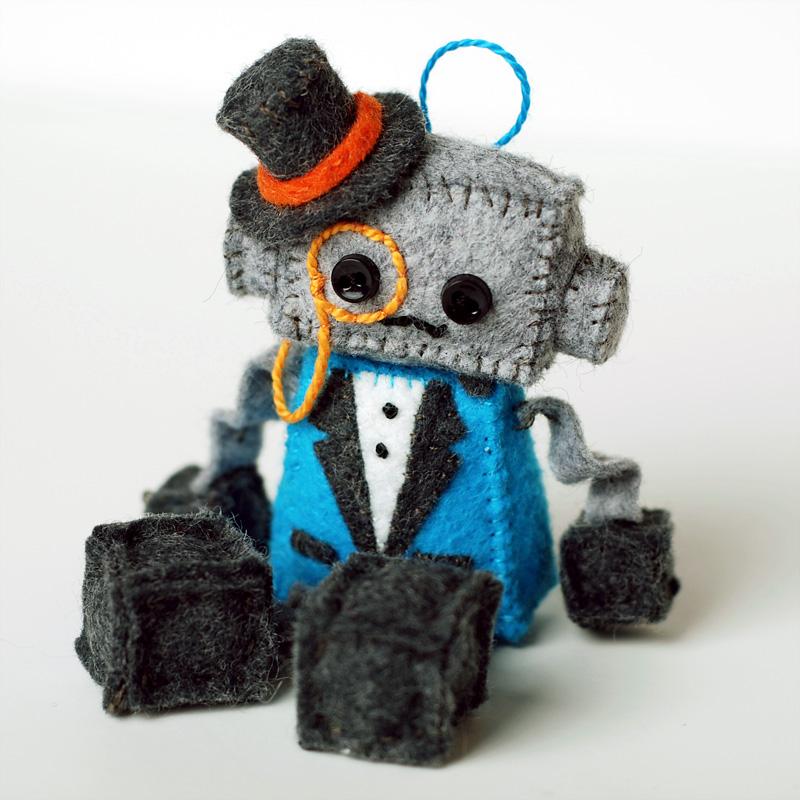mini steampunk plush robot