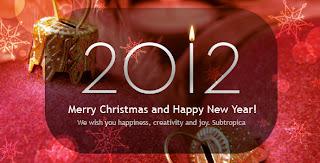 newyear christmas greeting card 2012