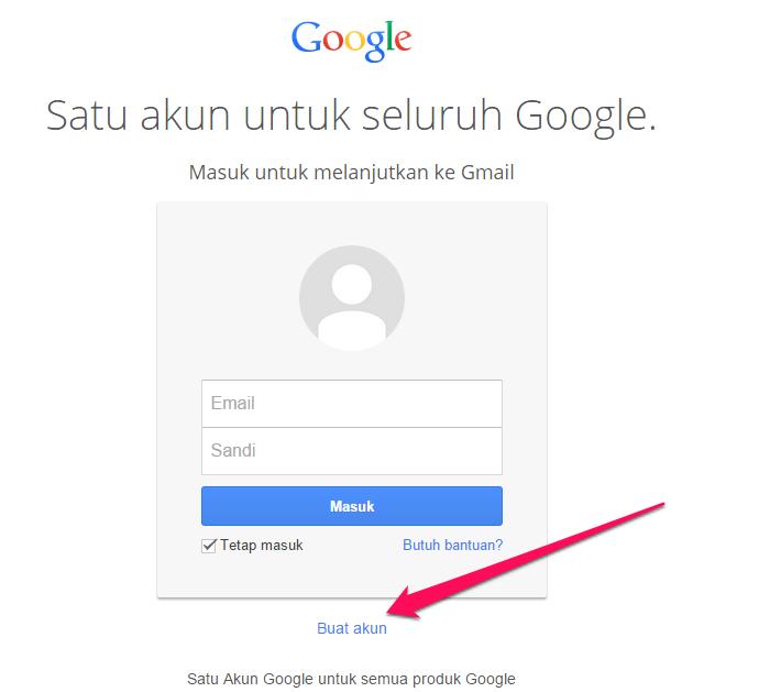 Cara Membuat Email di Gmail, klik buat akun