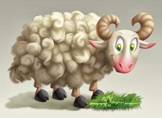 Ilustrasi Gambar Domba Kurban