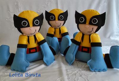 Super heróis em feltro Wolwerine