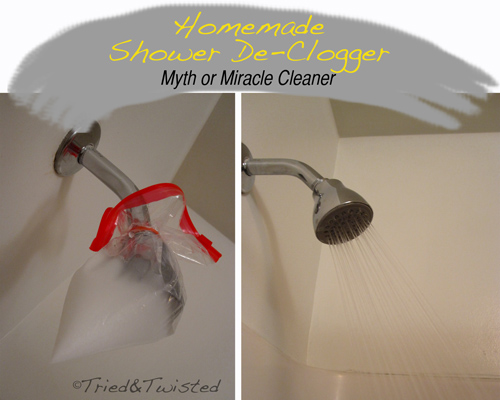 Homemade Shower De-Clogger Myth or Miracle Cleaner | Tried & Twisted