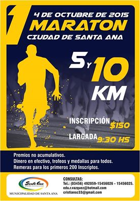 1º MARATON CIUDAD DE SANTA ANA 10K