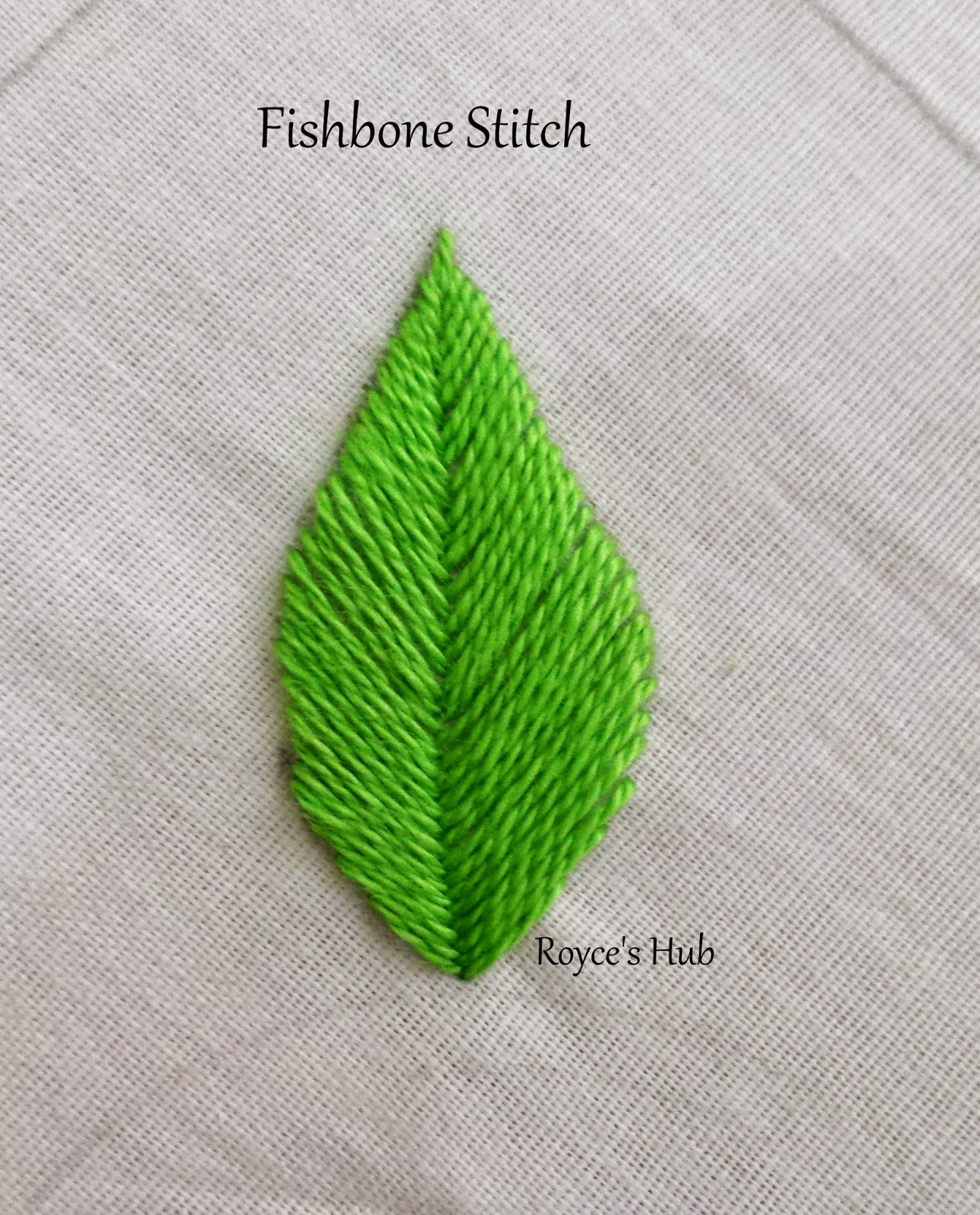 Royce s hub embroidery stitches for leaves fishbone