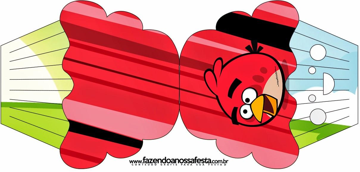 Tarjeta con forma de Cupcake de Angry Birds.