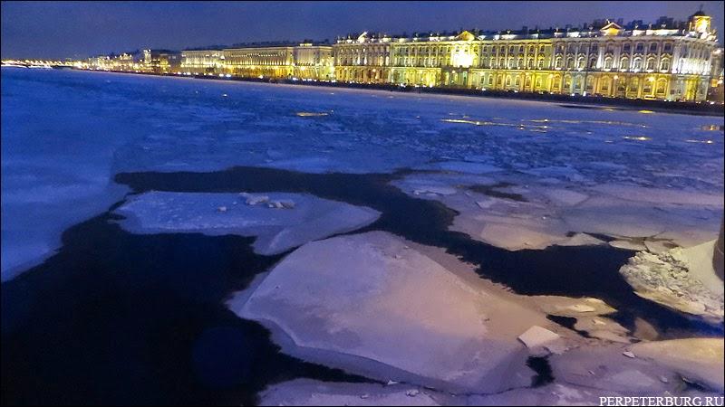 Панорама Петербурга зимой