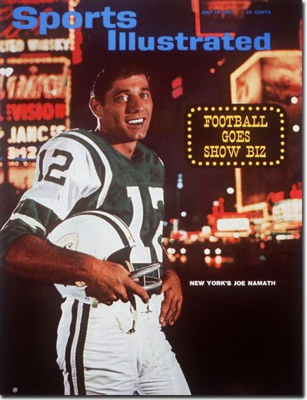 Sports Illustrated with Namath on cover