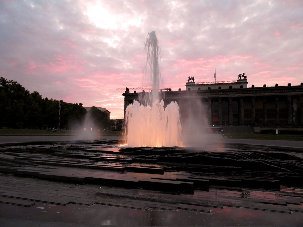 photos of Museum Island, Berlin, after sunset by Andie Gilmour