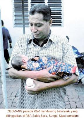 Bayi Masih Bertali Pusat Ditinggalkan Di R&R