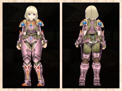 蛮竜の鎧・ピンク1×白3×軽量化