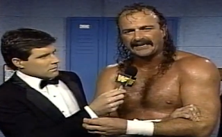 WWF / WWE - This Tuesday in Texas 1991 - Jake 'The Snake' Roberts cut a chilling pre-match promo against Randy Savage