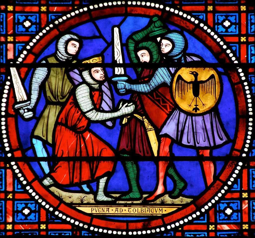 A battalha de Tolbiac Vitral da catedral de Laon