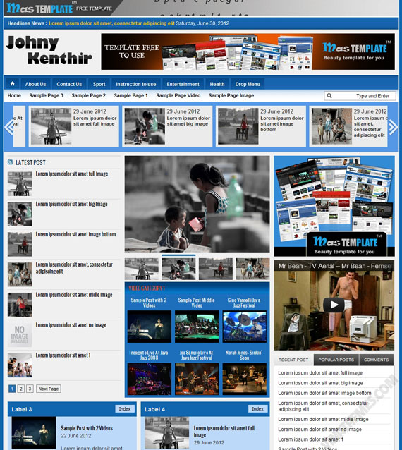Johny Kenthir Blogger Template