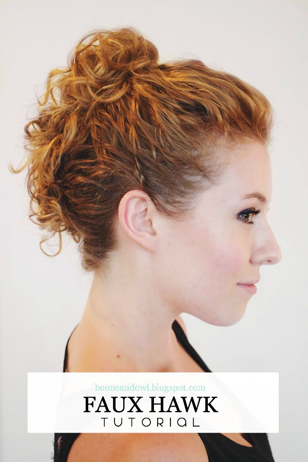 MESSY FAUX HAWK TUTORIAL
