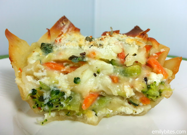 "White Vegetable Lasagna ""Cupcakes"" - Emily Bites"