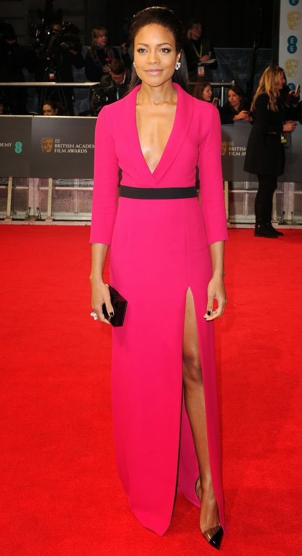 naomie harris, Gucci, BAFTA, 2014, awards, red carpet