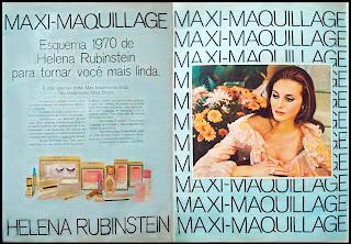 propaganda cosméticos Helena Rubinstein - 1970; reclames anos 70; os anos 70;
