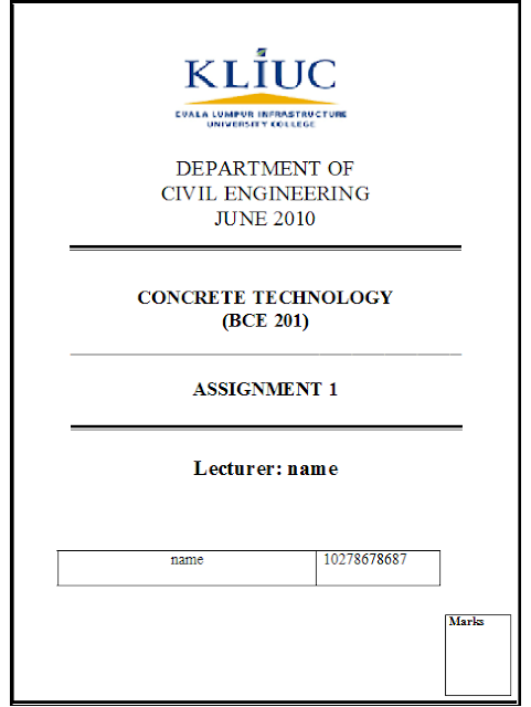 cover page for mba assignments