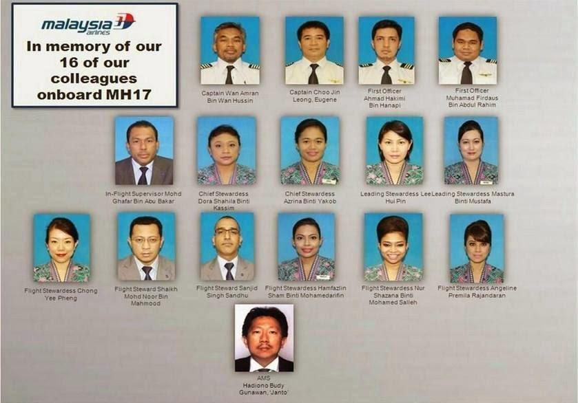 SENARAI ANAK KAPAL MH17 DAN LATAR BELAKANG