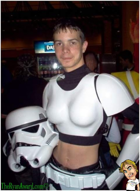 Cross Dressing Storm Trooper - Starwars Halloween Costume